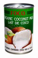 Кокосовое молоко органическое Aroy D 35% кокоса, 10-12% жирности - 400 мл - жесть