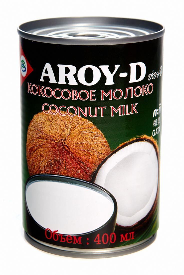 Кокосовое молоко Aroy D 60% кокоса, 17-19% жирности - 400 мл - жесть