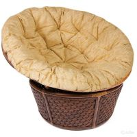 Кресло из ротанга «Андреа» (Andrea 23/01) + Подушка (Пекан)