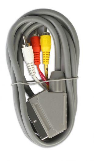 Кабель соединительный Smartbuy SCART - 3 RCA (M), 1,8 m, в пакете