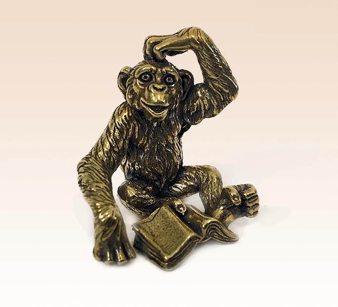 Фигурка Шимпанзе Бронза