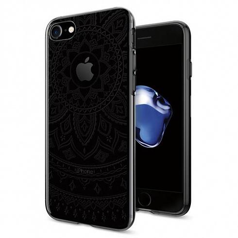 Чехол Spigen Liquid Crystal Shine для iPhone 8 прозрачный