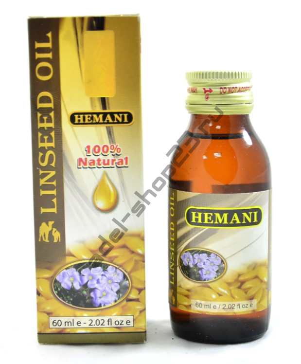 Hemani - Масло льняное, 60 мл.