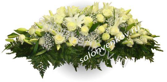 Траурная композиция из живых цветов N69