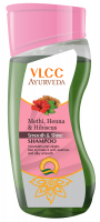 Шампунь для блеска волос Пажитник Хна Гибискус VLCC Ayurveda Smooth and Shine Shampoo