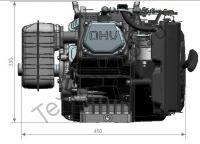 Двигатель Zongshen ZS GB620FE габаритные размеры по высоте и ширине