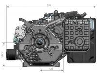 Двигатель Zongshen ZS GB620FE габаритные размеры