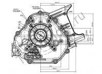 Двигатель Zongshen ZS GB620FE присоединительные размеры