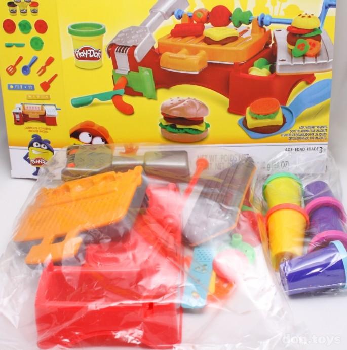 Игровой набор пластилина гриль и барбекю Play Doh купить недорого