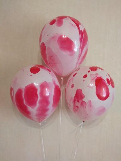 Розовый оникс латексные шары с гелием