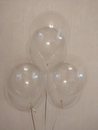 Прозрачный шар с гелием