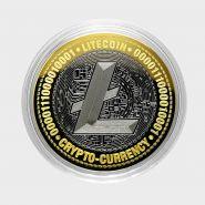 10 рублей, ЛАЙТКОИН-РУБЛЬ, Биткоин криптовалюта, с гравировкой