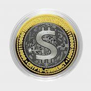 10 рублей, САТОШИ-РУБЛЬ, Биткоин криптовалюта, с гравировкой