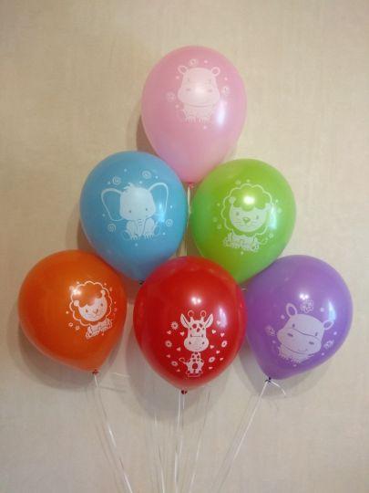 Разные Звери латексные шары с гелием