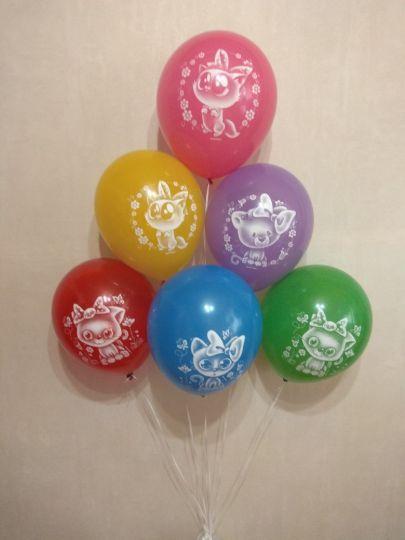 Котята латексные шары с гелием