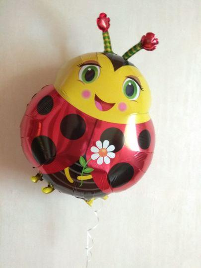Божья коровка #1 фольгированный шар с гелием