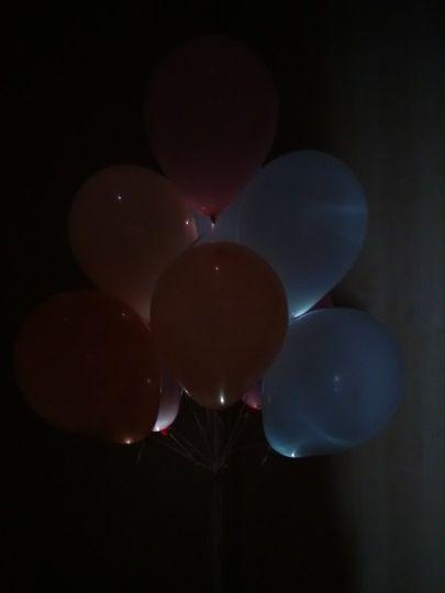 МАЛЕНЬКИЕ светящиеся шары ЭКОНОМ (МИНИ шар со светодиодом)