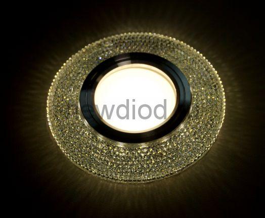 Точечный Светильник OREOL Crystal 8163 93/60mm под лампу MR16 Белый
