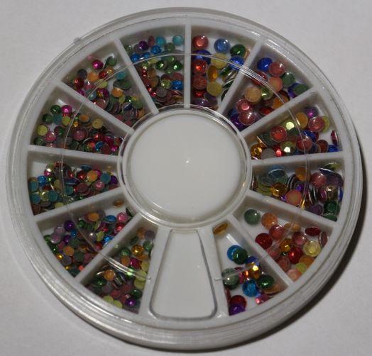 Карусель металлические клепки ассорти цветов , микс размер