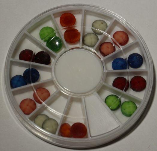 Карусель камни микс цвета круглые  fdd
