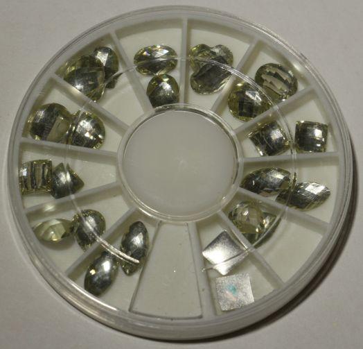Карусель камни разной формы серебро fdd