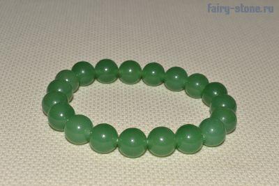 Браслет из зелёного халцедона (в наличии 0шт)