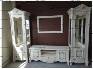 Шкаф-витрина 1-дверная Рафаэлла Диа Мебель (78х53,5х223,5)