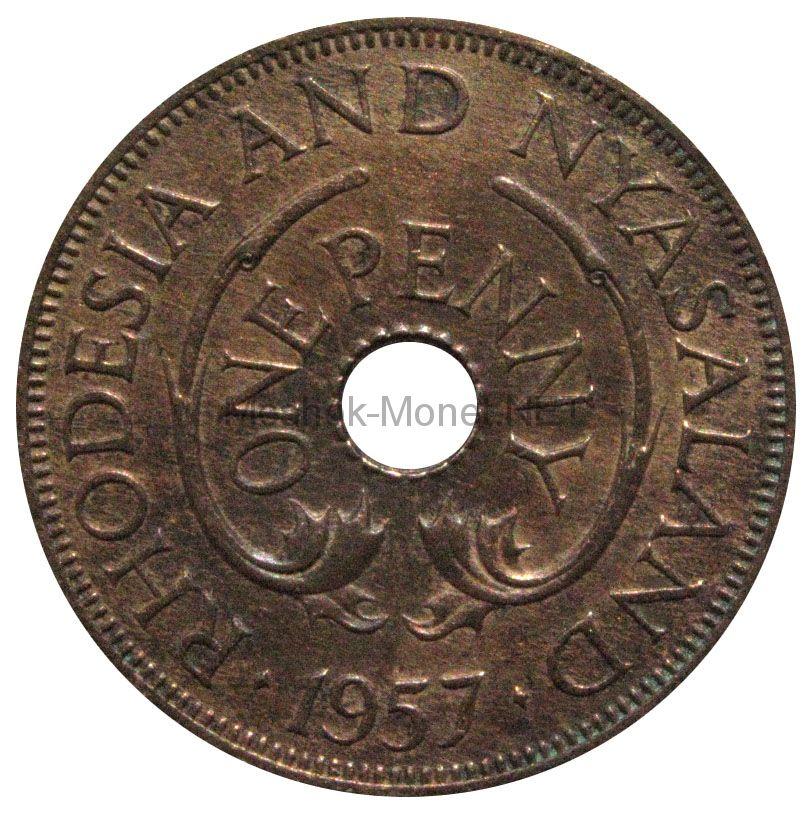Родезия и Ньясаленд 1 пенни 1957 г.