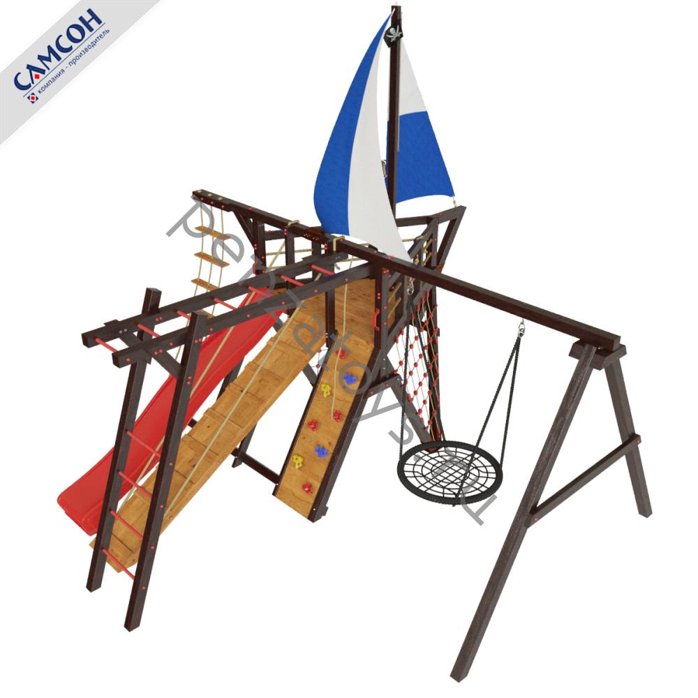 Детская игровая деревянная площадка-корабль Фрегат