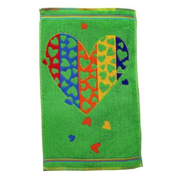 Полотенце Цветные сердечки