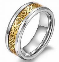 Кольцо с позолоченным орнаментом