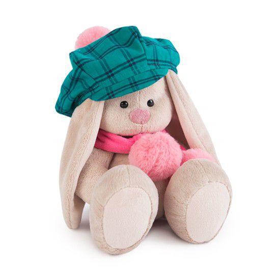 Зайка Ми в зеленой кепке и розовом шарфе малая