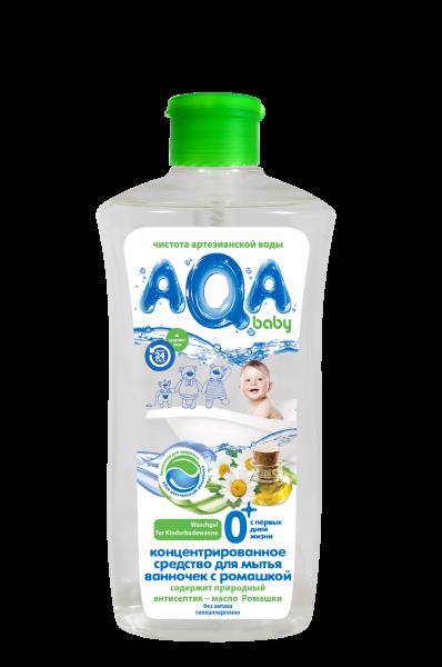 AQA baby Концентрированное средство для мытья детских ванночек с ромашкой, 500 мл