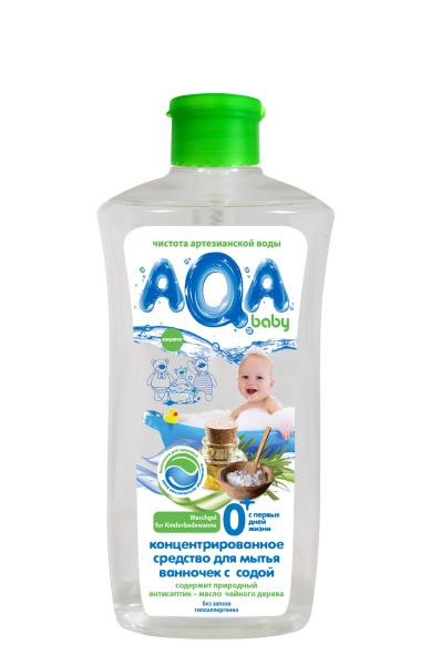AQA baby Концентрированное средство для мытья детских ванночек с содой 500 мл