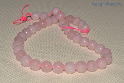 Бусины из розового кварца -10мм.(в наличии 1шт)