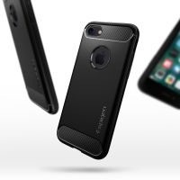 Чехол Spigen Rugged Armor для iPhone 7 черный