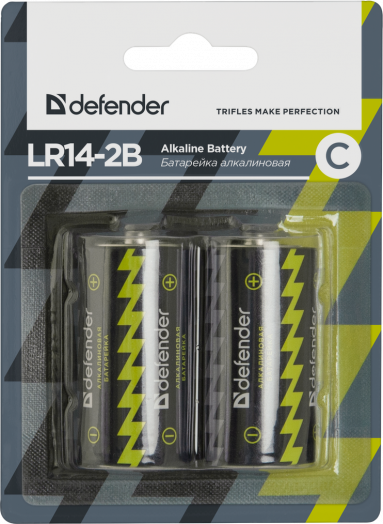 Батарейка алкалиновая Defender LR14-2B С