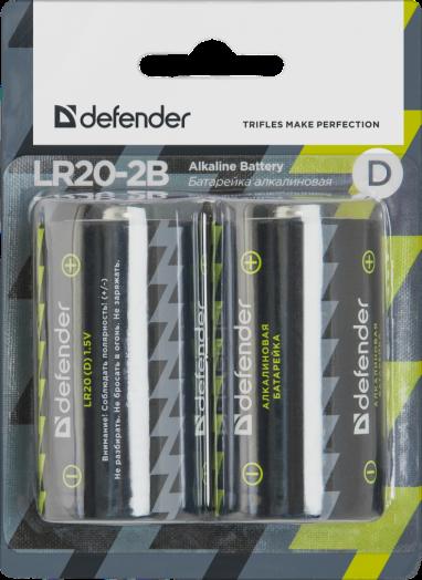 Батарейка алкалиновая Defender LR20-2B D