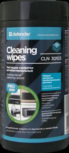 Салфетки для поверхностей Defender CLN 30103 PRO 110шт,антибактериальные