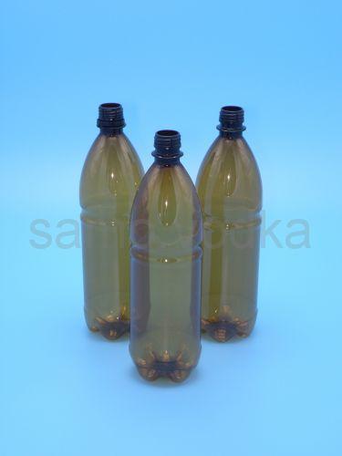 Бутылка пэт темная с крышкой, 1 л