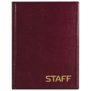 Телефонная книжка, А5, 160х204 мм, 80 л., STAFF, ВЫРУБНОЙ АЛФАВИТ, обложка ПВХ, евроспираль, 120927
