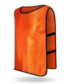 Манишка футбольная взрослая Оранжевая