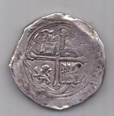 8 реалов - макукин 1556 -1598 г. Пиратские! Америка. Испания.