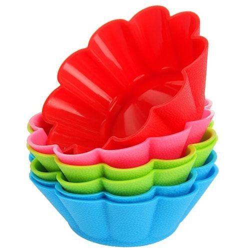 """Набор форм для выпечки, 6 шт, 7х3 см """"Ромашки"""", нижний диаметр 4,5 см, цвета МИКС"""