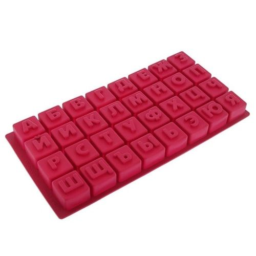 """Форма для шоколада, 32 ячейки, 35х18х3 см """"Алфавит"""""""