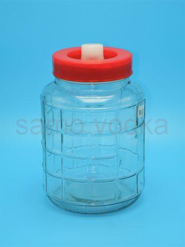 Банка (бутыль) стеклянная с гидрозатвором 8 литров