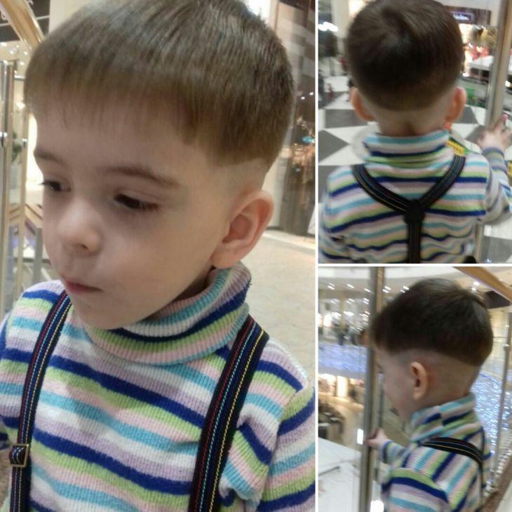 Детская модельная стрижка.