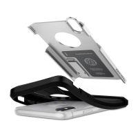 Чехол Spigen Tough Armor для iPhone X серебристый