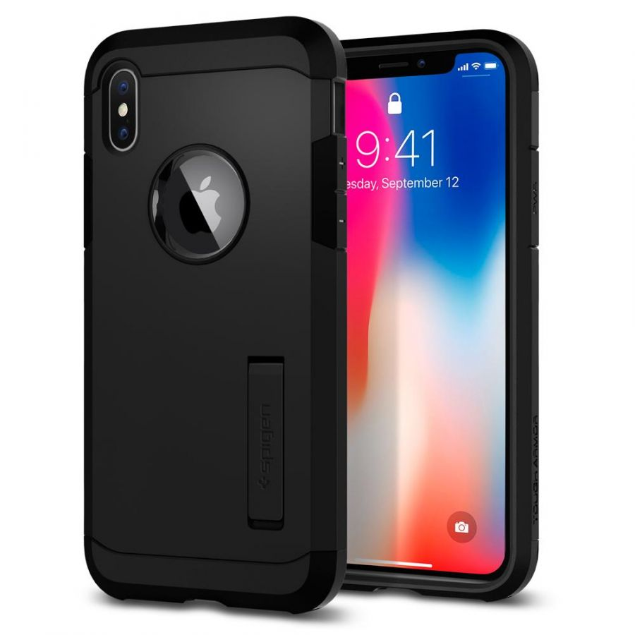 Чехол SGP Spigen Tough Armor для iPhone X чёрный