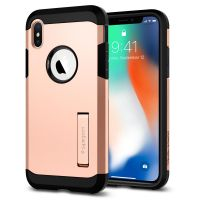 Чехол Spigen Tough Armor для iPhone X румяное золото